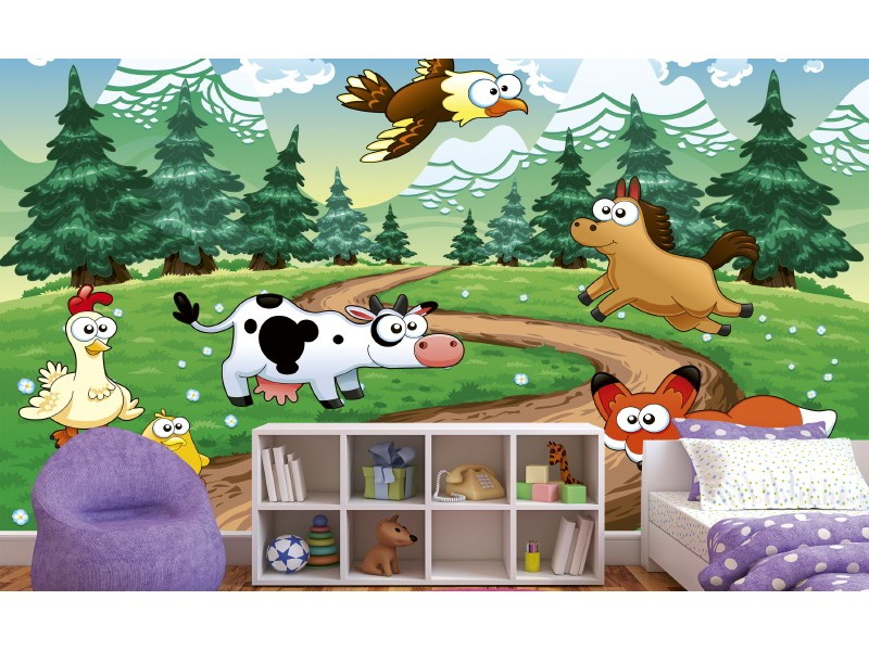 FOTOTAPET EASY UP ANIMALS AND FOREST