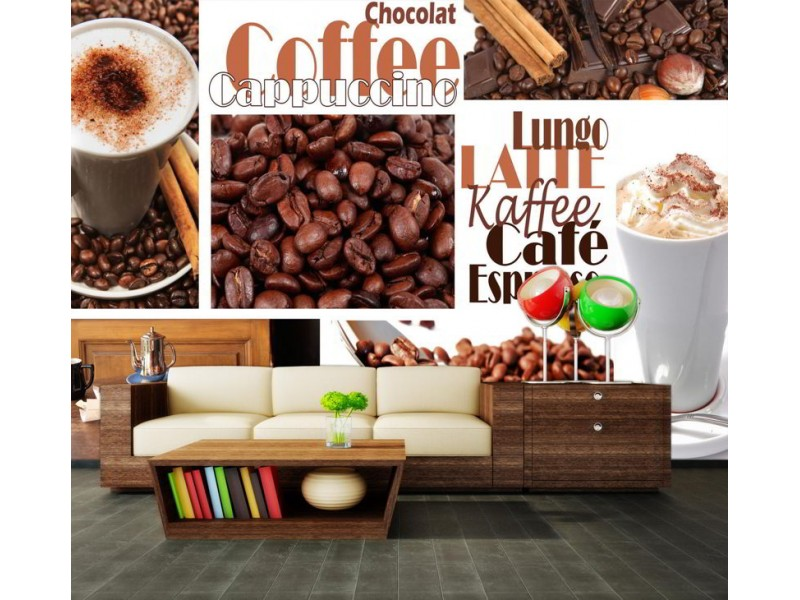 M0047 - Fototapet kaffe kollage