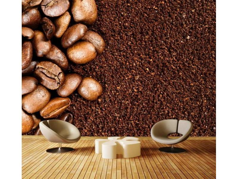 M0835 - Fototapet rostade kaffebönor