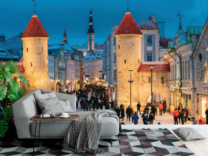Fototapet Viru gate i Tallinn (106092570)
