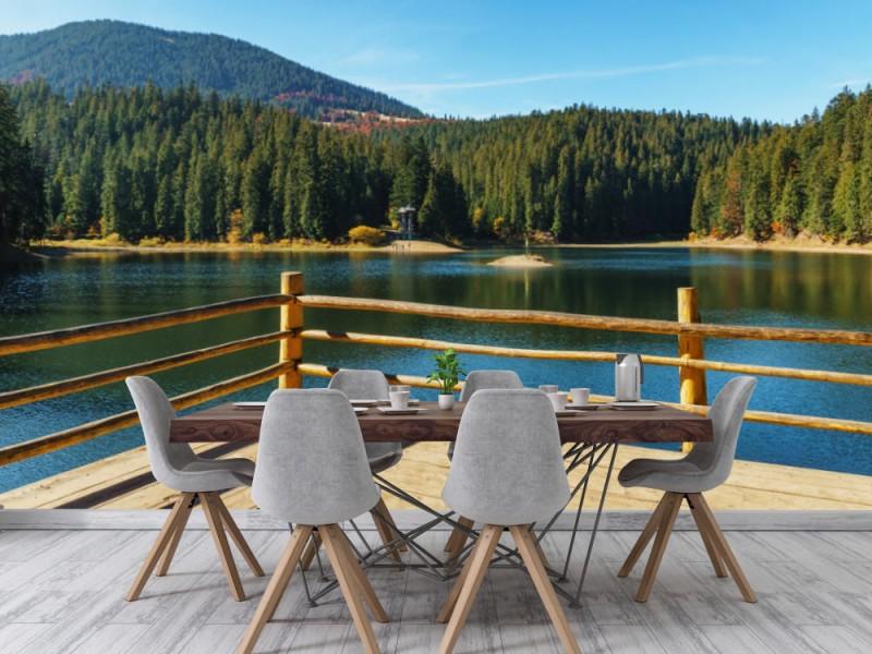 Fototapet Lake At Summer Day