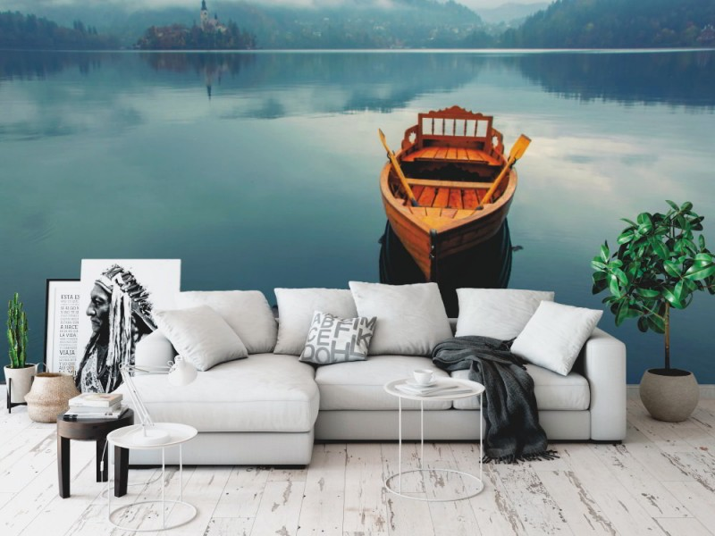Fototapet ensam båt