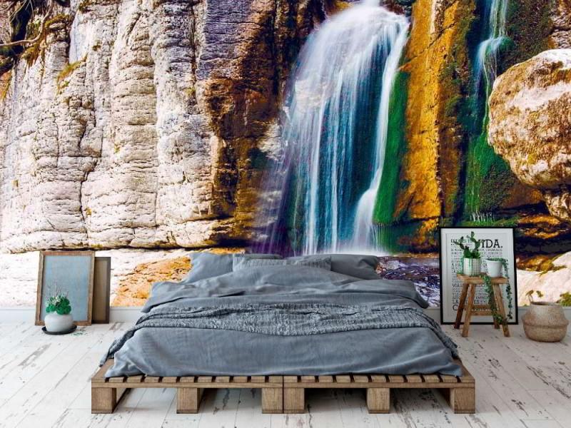 Fototapet vackert vattenfall i Martvili