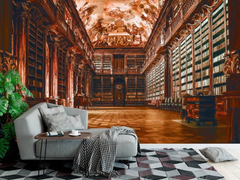Fototapet gammalt, tomt bibliotek (109240430)