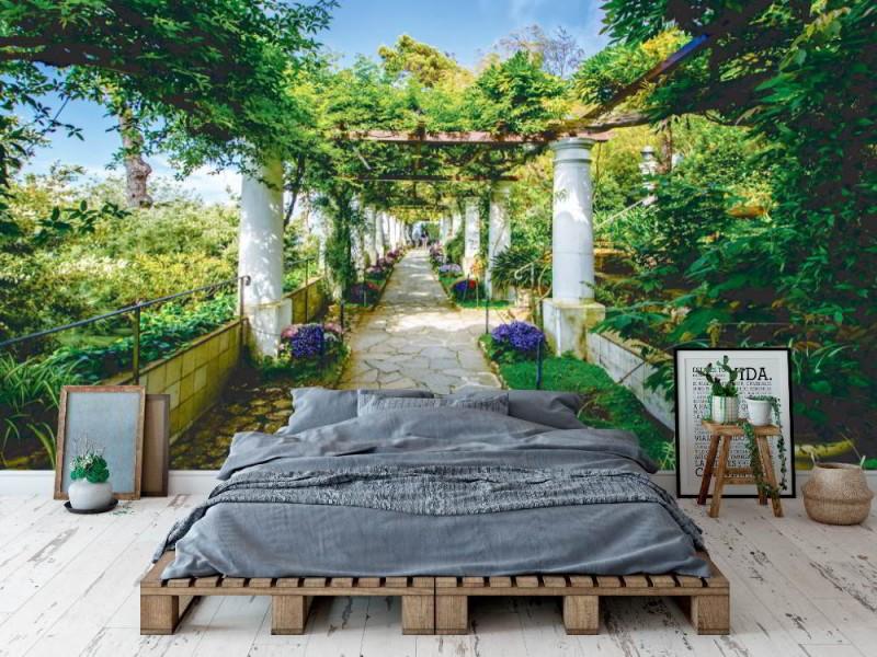Fototapet villa san Michele på Capri (109439671)