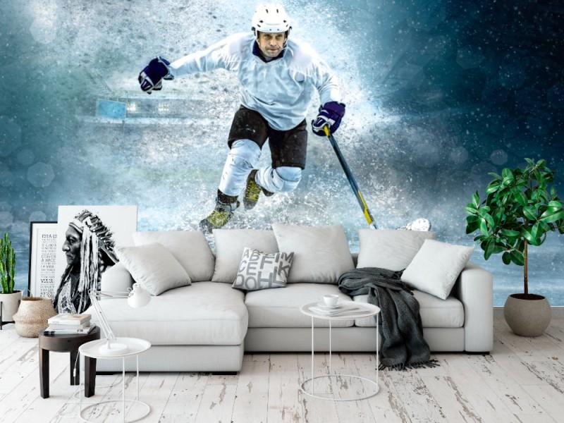 Fototapet Ishockeyspelare (111919036)