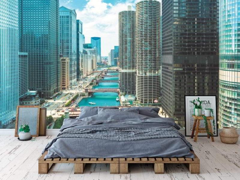 Fototapet Chicago flod