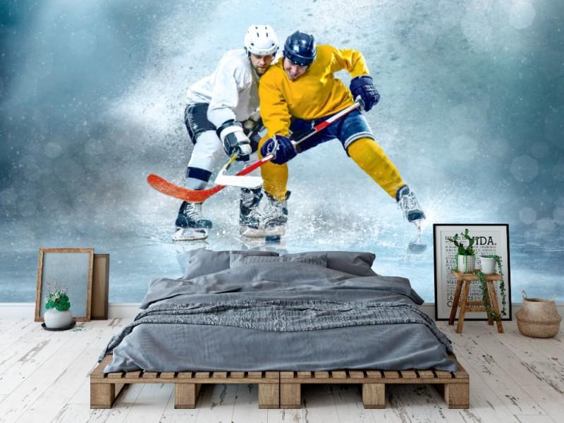 Fototapet Ishockeyspelare i dynamisk aktion (115657369)