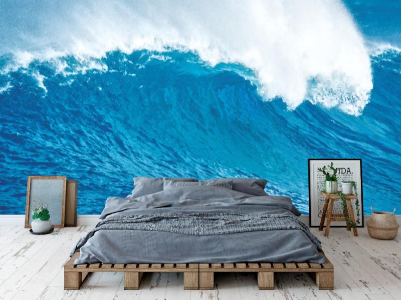 Fototapet vacker blå havsvåg (11928288)