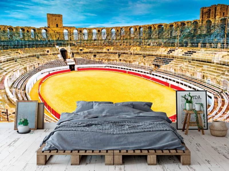 Fototapet arena och romersk amfiteater i Arles (Frankrike)