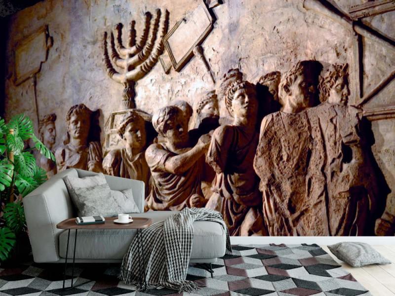 Fototapet väggrelief på Titus-bågen (120276976)