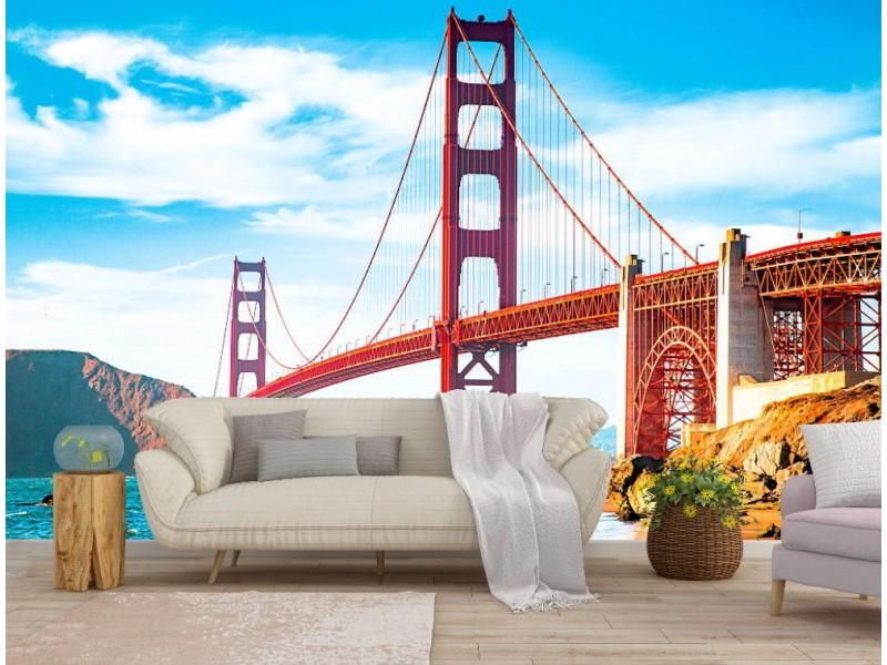 Fototapet klassisk utsikt över Golden Gate bro (121795427)