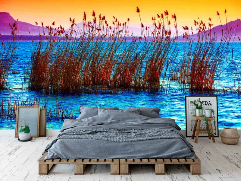 Fototapet stranden vid Balaton sjön (Ungern)