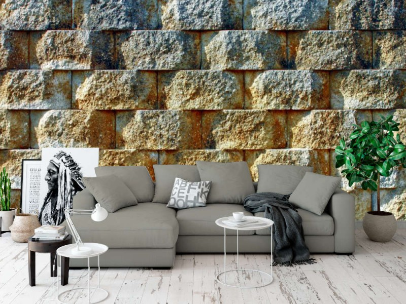 Fototapet vägg av sammankopplade block i morgonljuset (12746645)
