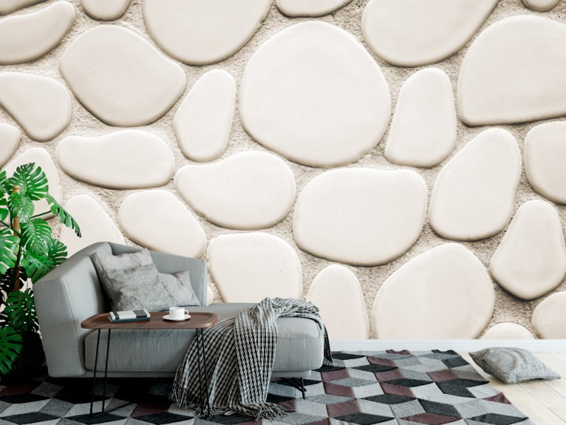 Fototapet vägg av ovala och runda stenar (134217315)