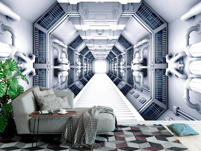 Fototapet utomjordingt rymdskepp interiör (16823312)