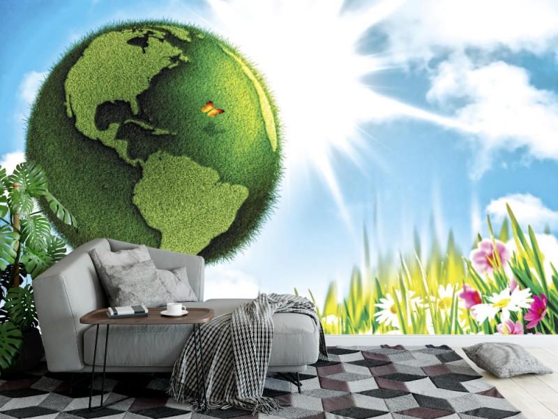 Fototapet den gröna jorden (18245741)