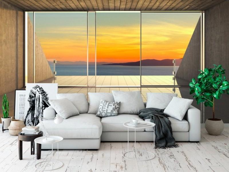 Fototapet tom modern lounge