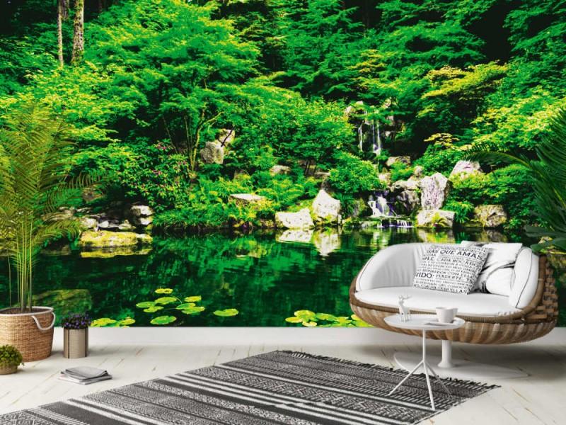 Fototapet Vacker japansk Zen Garden