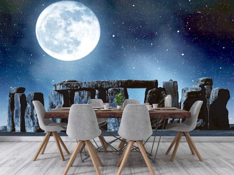 Fototapet Stonehenge på natten (21971037)