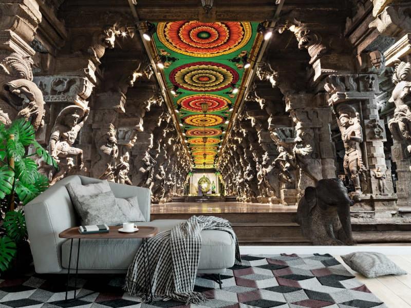 Fototapet Menakshi hinduistiskt tempel i Madurai (22092920)