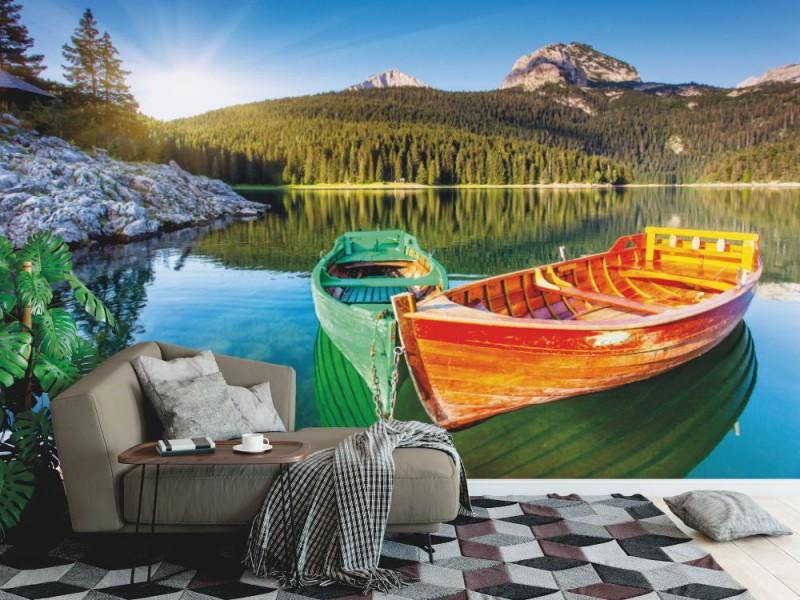 Fototapet sovsal svart sjö