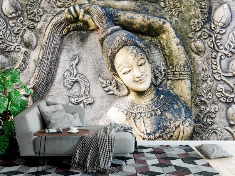 Fototapet thailändsk flicka formkonst (22601796)