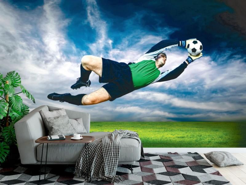 Fototapet fotbollsmålvakt i aktion (24222098)