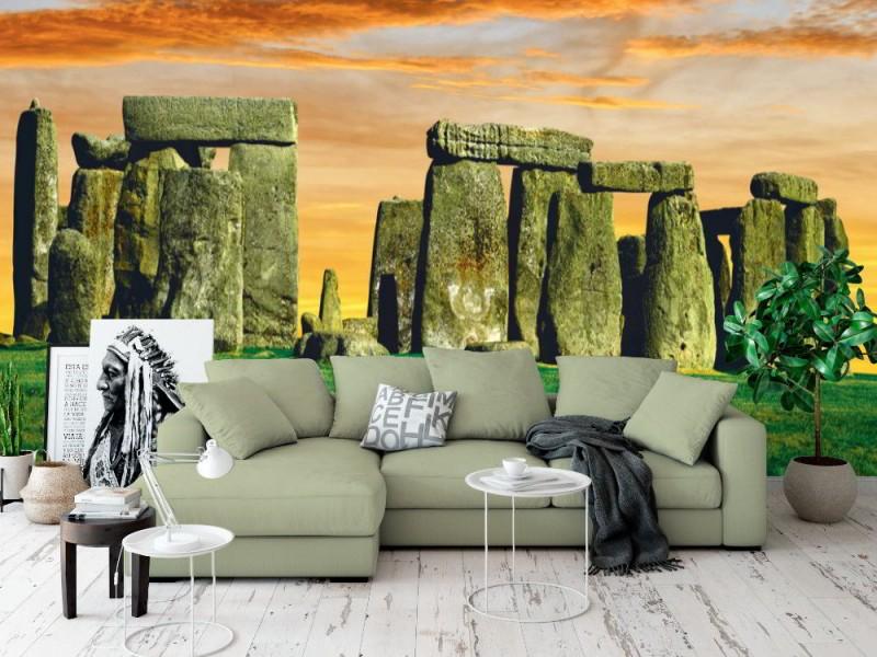 Fototapet Stonehenge vid solnedgången (25805527)