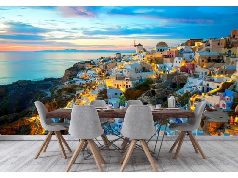 Fototapet Oia Santorini Greece