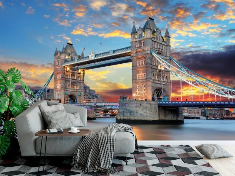 Fototapet Tower Bridge In London, Uk
