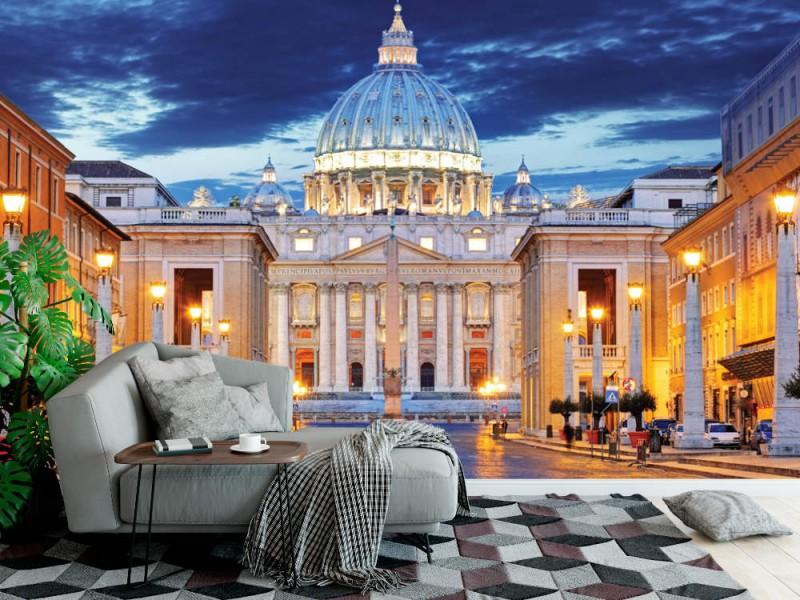 Fototapet den påvliga basilikan sankt Petrus i Vatikanen (27340830)