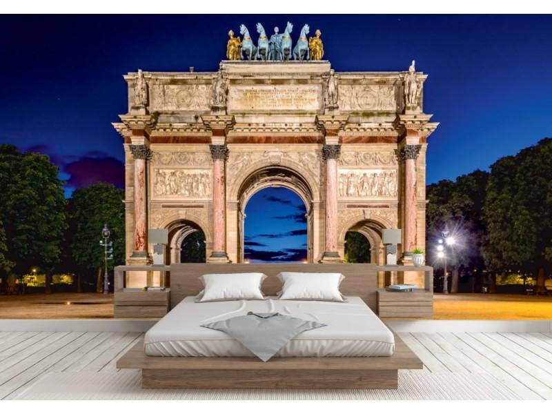 Fototapet Arc de Triomphe du Carrousel at Tuileries gardens (Paris)