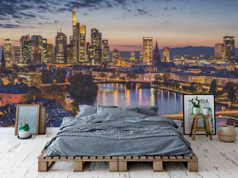 Fototapet Frankfurt am Mains finansdistrikt (30147057)