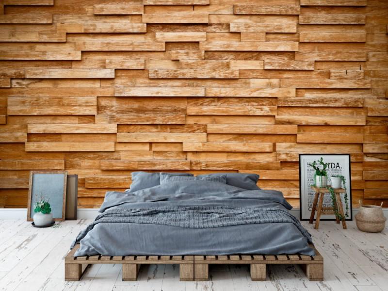 Fototapet Layers Of Wood Plank Wall