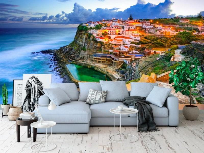 Fototapet Azenhas do Mar med stengången
