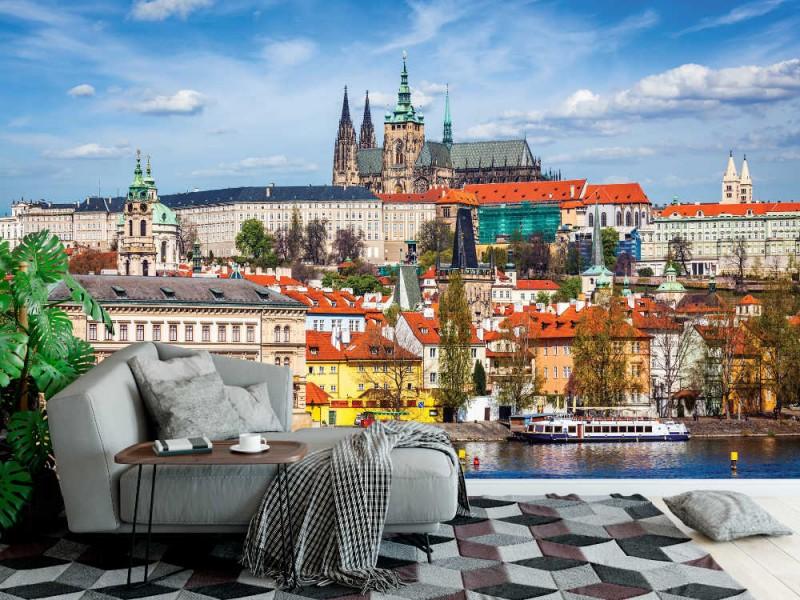 Fototapet Prag slott och St. Vitus katedral (38690732)