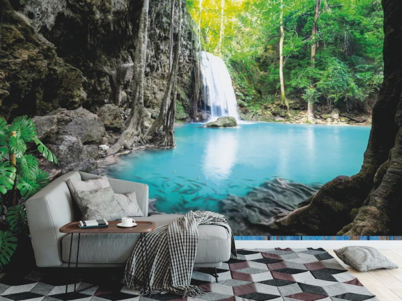 Fototapet Erawan kaskad vattenfall