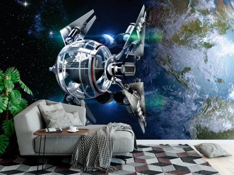 Fototapet främmande rymdskepp (40117783)