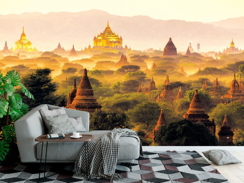 Fototapet med pagod-landskap i Bagan (40979868)