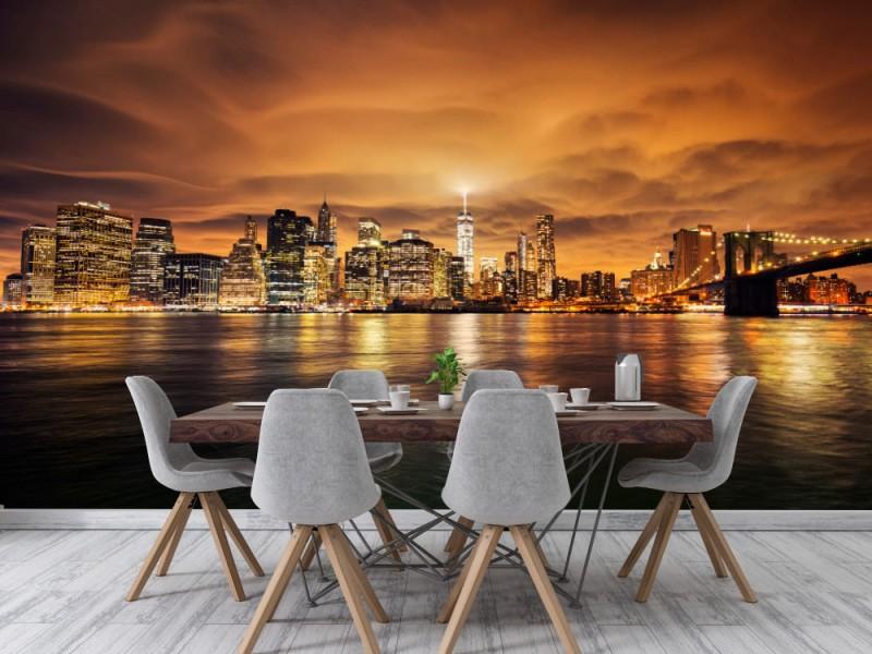 Fototapet Manhattan At Sunset