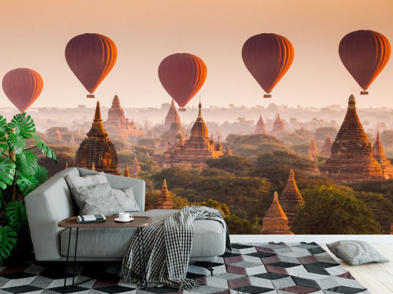 Fototapet Hot Air Balloon Over Bagan