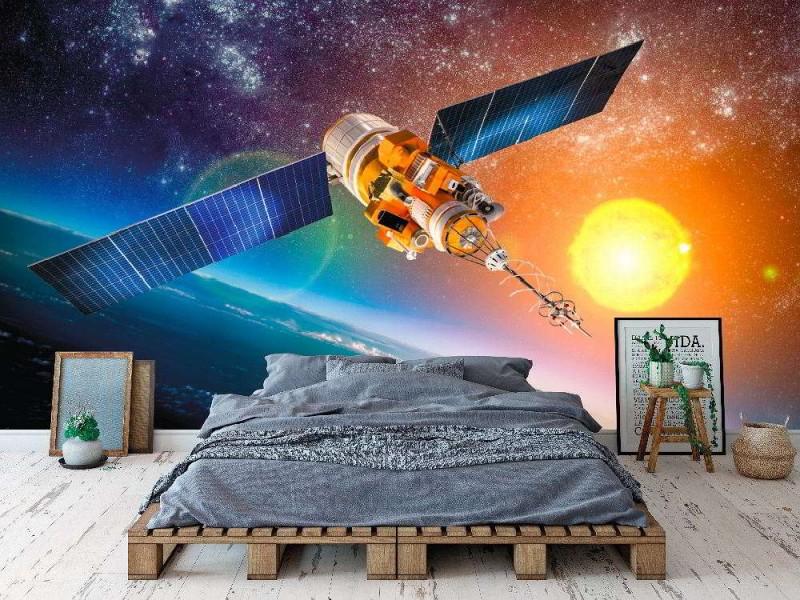 Fototapet rymdsatellit