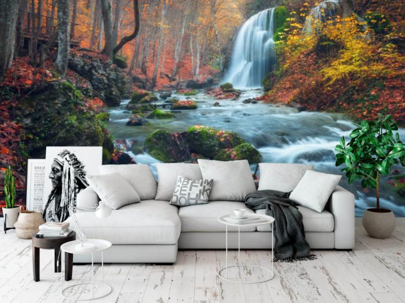 Fototapet Waterfall In Crimean Mountains