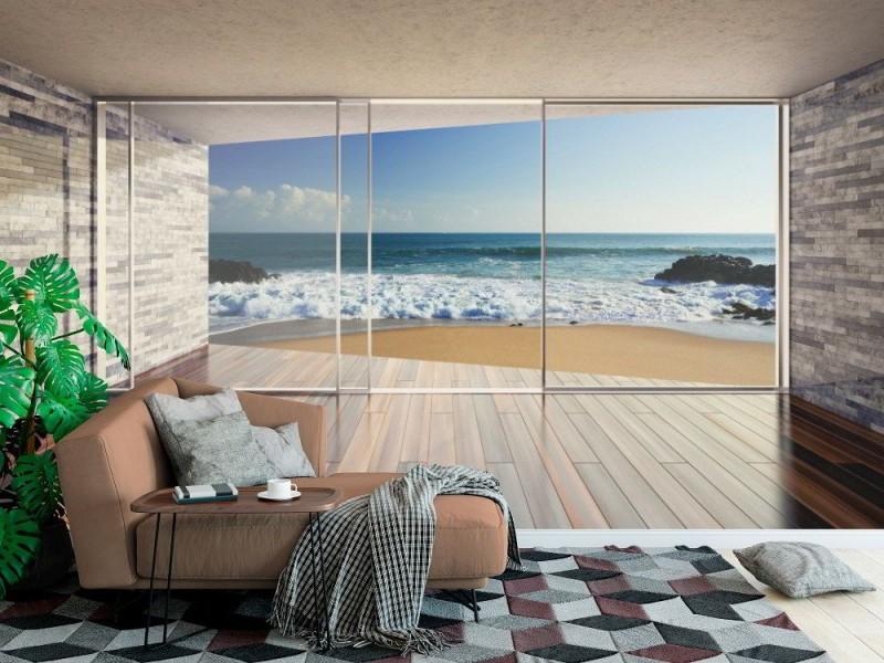 Fototapet tomt modernt vardagsrum