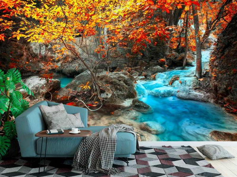 Fototapet Erawan vattenfall