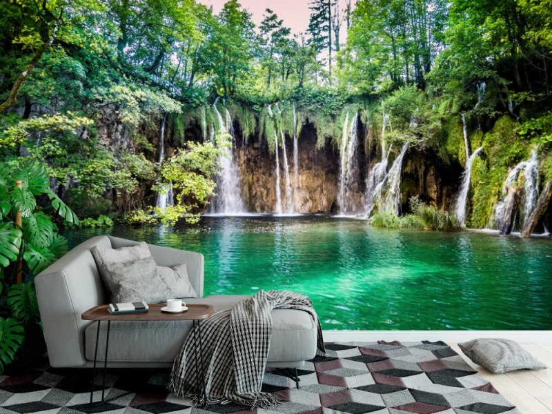 Fototapet Waterfalls In Plitvice Lake