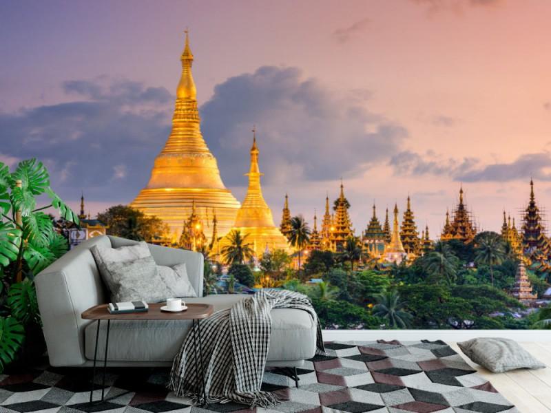 Fototapet Shwedagon Pagoda In Myanmar