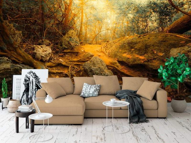 Fototapet fantasy djungelskog