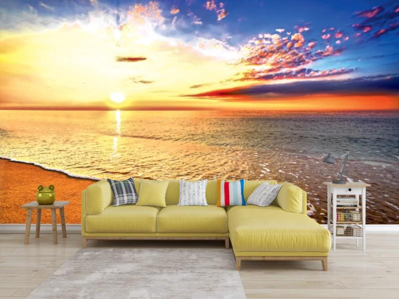 Fototapet härlig tropisk soluppgång på stranden (49135908)